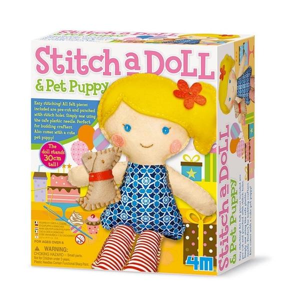 【4M】02767 美勞創作-派對女孩 Stitch a doll in Party