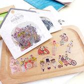 PGS7 富士 拍立得 底片 裝飾貼紙 - 插畫 風格 貼紙包 女孩 廚師 大叔【SHZ7432】