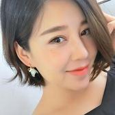 925純銀針珍珠蝴蝶結耳環女 氣質 韓國 甜美貝殼耳釘2018新款耳墜【Pink Q】