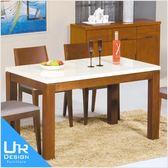 南洋風喬伊柚木色石面餐桌(18I20/A471-01)