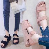 涼鞋女學生女鞋子夏季韓版原宿風平底百搭厚底鬆糕女鞋 奇思妙想屋