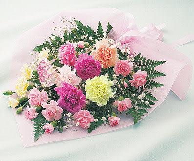 永和市網路花店祝媽媽母親節快樂~彩色康乃馨花束-全省配送皆可只要699元