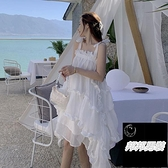 溫柔沙灘裙氣質吊帶裙女夏連身裙女小眾裙【邦邦男裝】