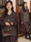 孕婦裝秋冬款孕婦套裝外出時尚款連衣裙網紅款兩件套毛衣馬甲冬裝 潮流前線