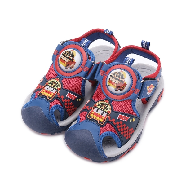 救援小英雄 ROY 羅伊護趾電燈鞋 紅藍 POKT01132 中童鞋