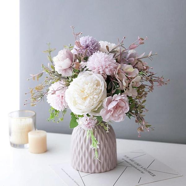仙女森系INS北歐素雅百搭仿真奧斯汀玫瑰守護愛新娘原創手捧花束