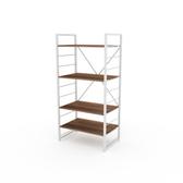 (組)特力屋萊特四層架白框/深木紋-60x40x128CM
