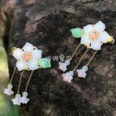 兒童發飾 兒童頭飾發卡優雅頭花飾品中國風復古花朵不傷發發飾女童漢服發夾 珍妮寶貝