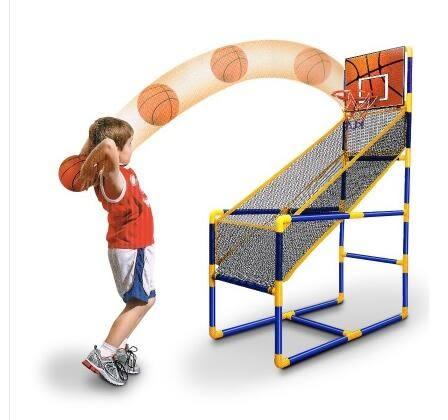 2~6歲家用兒童投籃機單雙人籃球架收納籃兒童親子玩具室內遊戲機XW