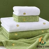 浴巾家用純棉全棉吸水速干不掉毛巾三件套情侶款一對【創世紀生活館】