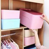 大號塑料衣服收納箱裝書本箱子放衣服衣柜收納盒整理儲物箱三件套【米拉生活館】JY