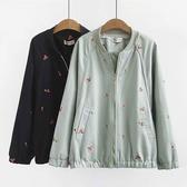櫻桃刺繡太空外套-大尺碼 獨具衣格 J3188
