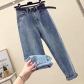 [S-5XL] 大碼九分牛仔褲女復古學生寬鬆直筒闊腿褲潮 - 風尚3C