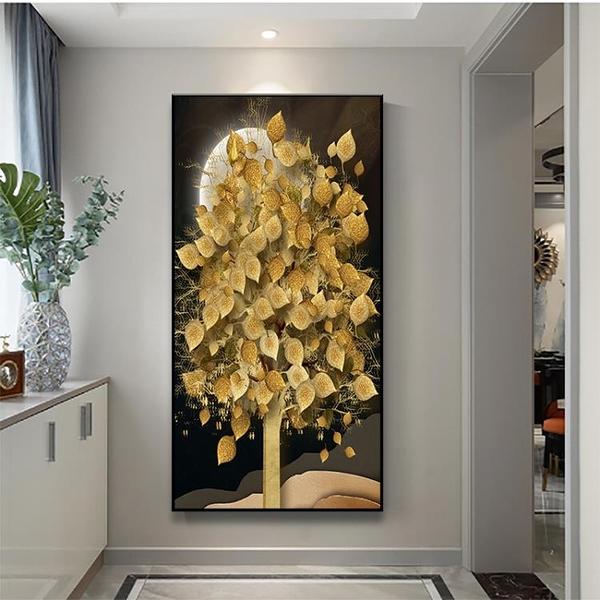 北歐入戶玄關裝飾畫樓梯間客廳背景壁畫招財掛畫【輕奢時代】