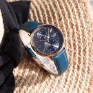 ALBA / VD77-X007B.A3A018X1 / 極致完美 藍寶石水晶玻璃 日本機芯 真皮手錶 深藍x玫瑰金框 38mm