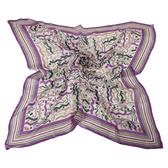 Christian Dior 波形紋多彩大絲巾(紫色)179003-2