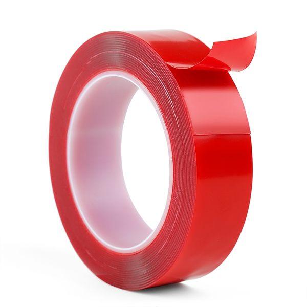 5mm捲狀壓克力透明雙面膠帶 防水無痕貼 超黏性膠條 無殘膠【WA196】《約翰家庭百貨