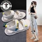 啄木鳥涼鞋女2021新款夏外穿平底軟底輕便休閒運動孕婦沙灘涼鞋女 快速出貨
