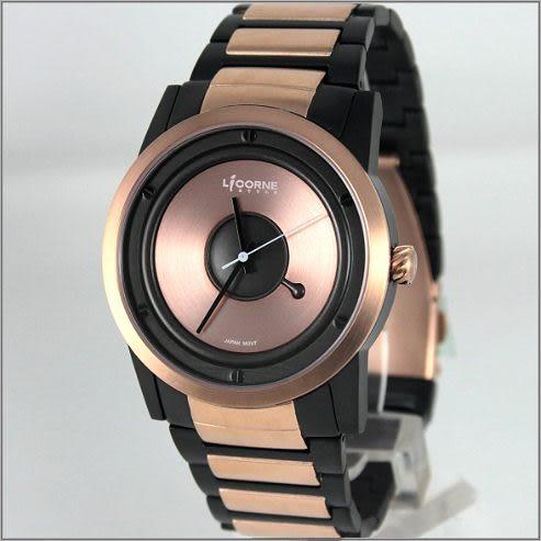 【萬年鐘錶】 LICORNE力抗錶 黑金 時尚錶 LI027MTRI-R