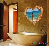 壁貼【橘果設計】海邊 DIY組合壁貼 牆貼 壁紙 壁貼 室內設計 裝潢 壁貼