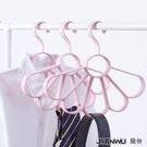 【快樂購】衣架掛鉤 支裝領帶架多功能收納衣架掛絲巾架