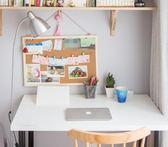 留言板40*60軟木板照片牆留言板創意背景牆木框照片板水鬆板圖釘板 igo 薔薇時尚