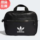 【現貨】Adidas MINI AIRLINER 背包 手提包 休閒 潮流 皮革 黑 【運動世界】ED5880