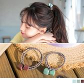 《ZC1351》韓系質感雙材質方塊髮圈 OrangeBear
