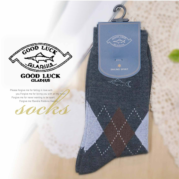 【大盤大】GOOD LUCK 男襪 25-27cm 棉襪 長筒襪 休閒襪 中筒襪 情人節禮物 四季襪 父親節活動