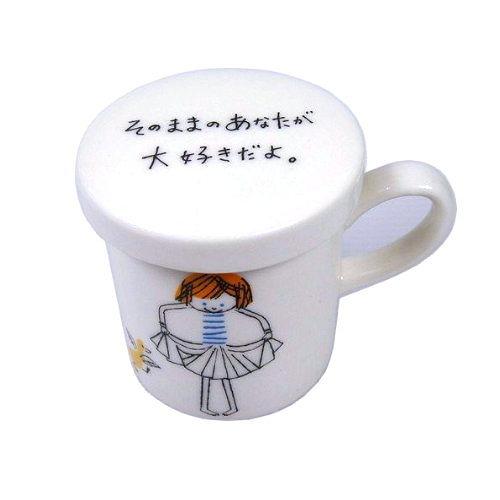 Shinzi Katoh Message Mug迷你小size馬克杯/咖啡杯/小女孩小鳥17967/保溫蓋糕點盤