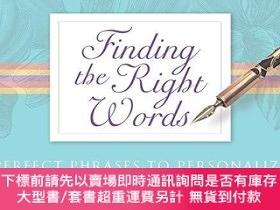 二手書博民逛書店Finding罕見The Right WordsY255174 Daniel, J. Beverly Pock