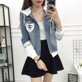 牛仔外套女春秋季學生寬鬆韓版bf短款棒球服休閒上衣新款外套 「爆米花」 「爆米花」