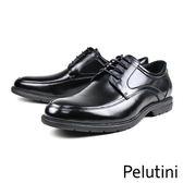 【Pelutini】經典U-Tip輕量綁帶德比鞋  黑色(8374-BL)
