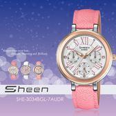 【人文行旅】Sheen | SHE-3034BGL-7AUDR 個性甜美 34mm 晶鑽