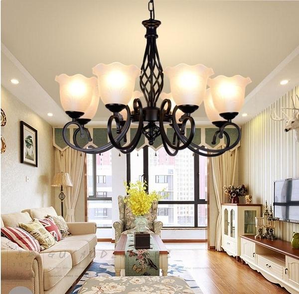 客廳燈具創意吊燈飾簡約現代餐廳臥室北歐美式田園鐵藝地中海 ATF 童趣潮品