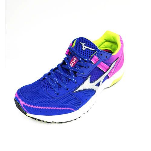 MIZUNO 美津濃 女 WAVE EMPEROR3皇速 輕量 耐磨 競速 慢跑鞋 J1GB187603 藍粉[陽光樂活]