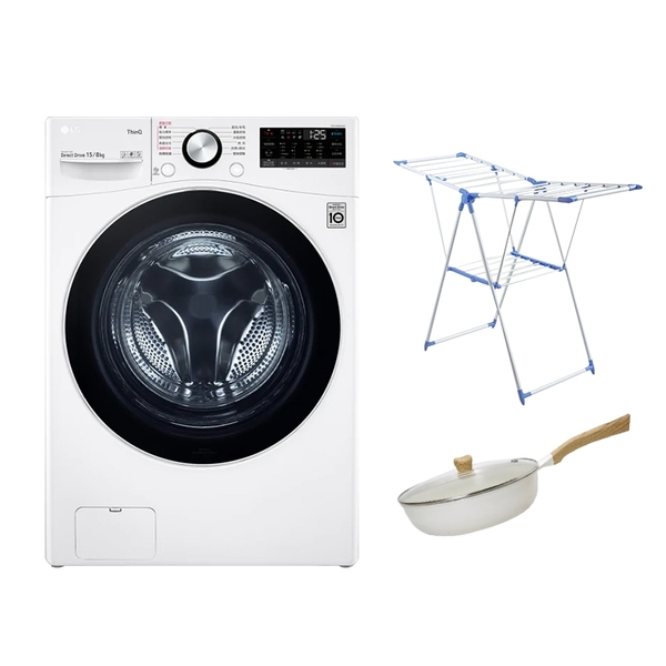 【2大豪禮加碼送 結帳折千元】LG樂金 WD-S15TBD 15公斤 滾筒 蒸洗脫烘 洗衣機【時段限定】