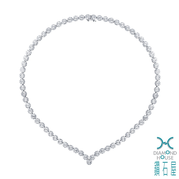 【鑽石屋】華麗鑽石項鍊