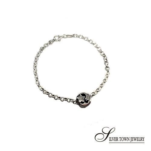 月亮星星串飾+純銀手鍊