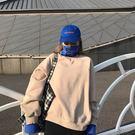 *魔法之城*LA599衛衣女假兩件冬季新款韓版寬松高領加絨慵懶風上衣服