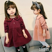 女童連身裙2019新款1寶寶秋裝童秋季裙子小童洋氣女孩公主洋装 yu7735【艾菲爾女王】