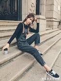 牛仔背帶褲女韓版寬鬆直筒可愛日系2020年秋冬新款時尚小個子學生