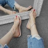 平底涼鞋  2018新款女夾腳羅馬沙灘套腳簡約學生夏季AB746【男人與流行】