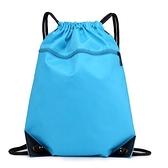 束口袋後背包抽繩運動背包防水簡易男女戶外旅行輕便折疊收納包袋 韓國時尚週