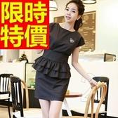 OL套裝(短袖裙裝)-上班族辦公百搭韓版職業制服2色54h12【巴黎精品】