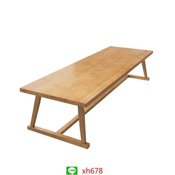 北歐實木辦公桌椅原木會議桌長桌現代簡約創意洽談桌工作臺長條桌【頁面價格是訂金價格】