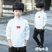 洋氣男童衛衣打底衫高領寬鬆秋裝長袖t恤上衣【奇趣小屋】