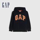 Gap男童 LOGO碳素軟磨刷毛休閒連帽外套 663912-海軍藍
