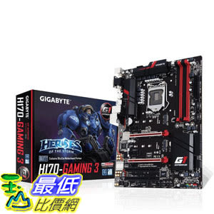 [美國直購] Gigabyte 主機板 LGA1151 Intel H170 ATX DDR4 Motherboard GA-H170-Gaming 3