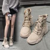 新款馬丁靴女英倫風單靴 百搭ins春季網紅短靴鞋子春秋款